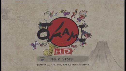 okami title screen