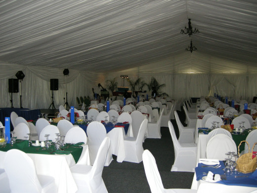 Decor in a marquee can look classy