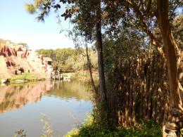 view from Tom Sawyer's Island in Magic Kingdom