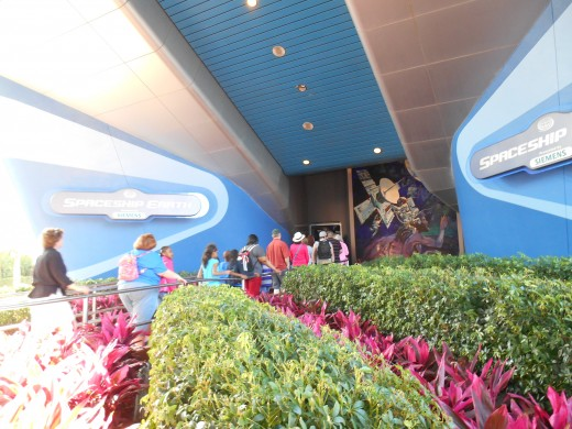 EPCOT entrance to Spaceship Earth