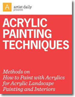 Example of a book to help with techniques on working with acrylics