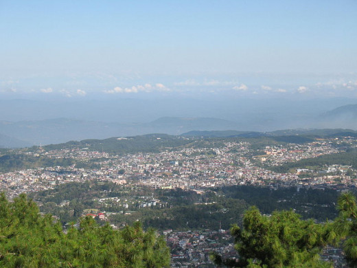 Overall view of Shillong