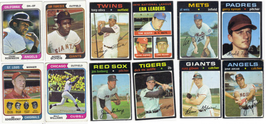 77 1974 Cards, 22 1971 Cards, 4 1971 High Number Cards and a 5-card 1964 Lot that I paid about $9 Total - Just Awesome