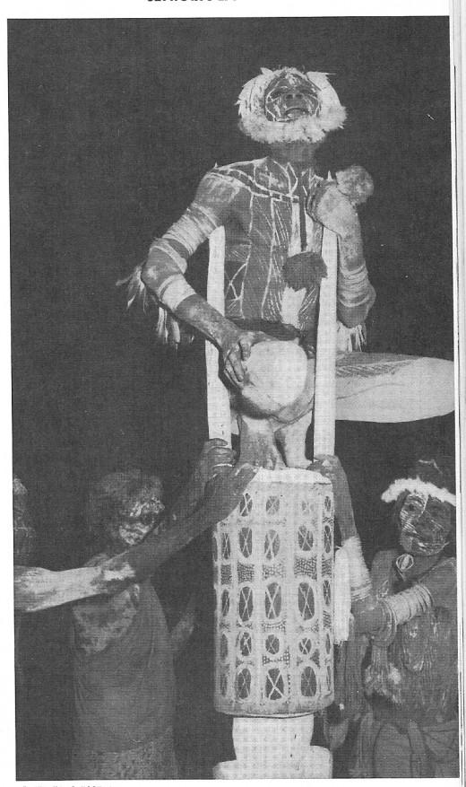 The Corroboree dance ritual performed by Australian Aborigines.