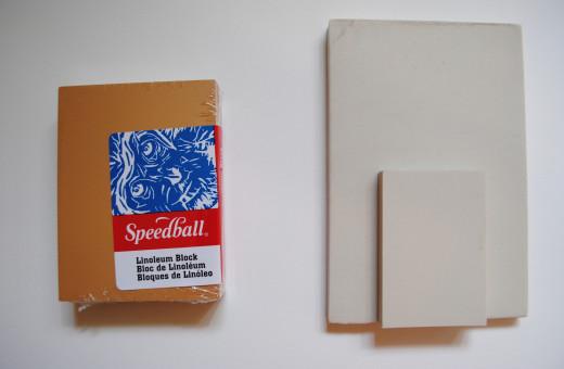 Linoleum block (left) and Safety Kut
