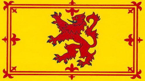 The Royal Standard of Scotland. The Lion Rampant