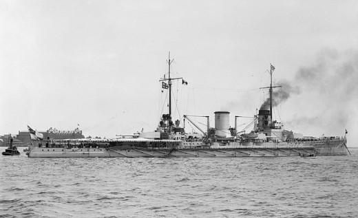 SMS Moltke at Hampton Roads, 1912