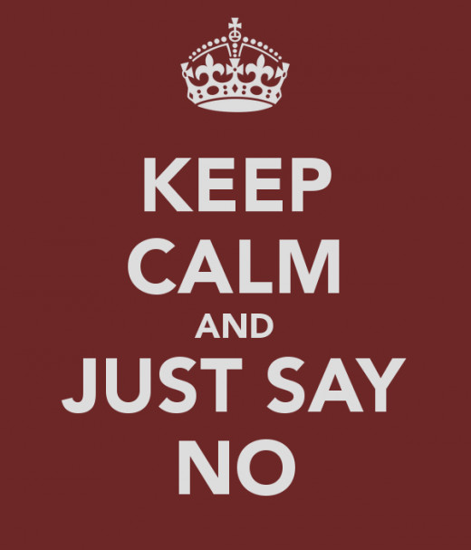 A simple way to minimize stress is to say no to things that you really don't have time to do.