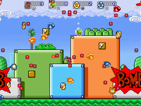 Super Mario War! 8 bit Multiplayer!