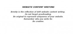 Explaining Website Content Writing