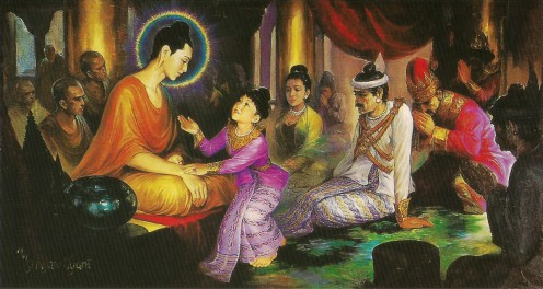 The Buddha and his son Rahula