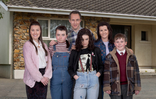 Moone Family: left to right; Clare Monnelly, Sarah White, Peter McDonald, Aoife Duffin, Deirdre O'Kane, and David Rawle