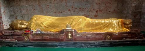 The Buddha reaching Parinirvana
