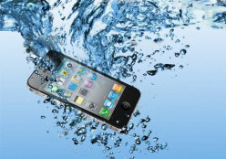 What should be the first thing to do after accidentally dropping your phone in the pool?