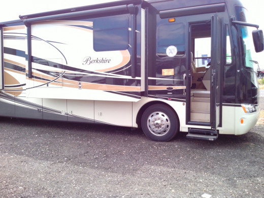 """A Class A RV is usually what comes to mind when you hear the phrase """"RV"""". They are similar to city buses in size and range considerably in price and luxury."""