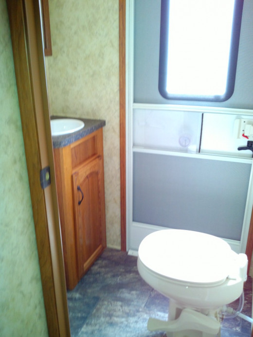 It's nice to have an extra bathroom for camping. This way no one has to go inside causing unnecessary wear on the RV.