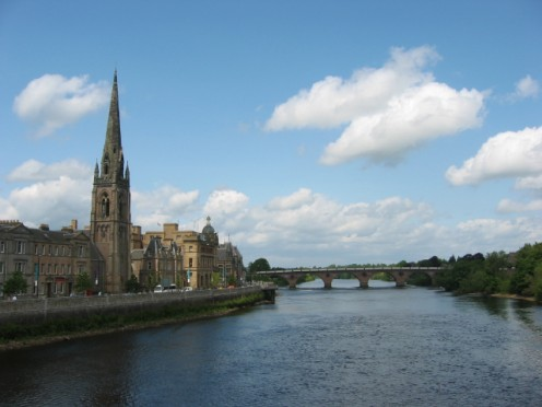 Perth from the River Tay