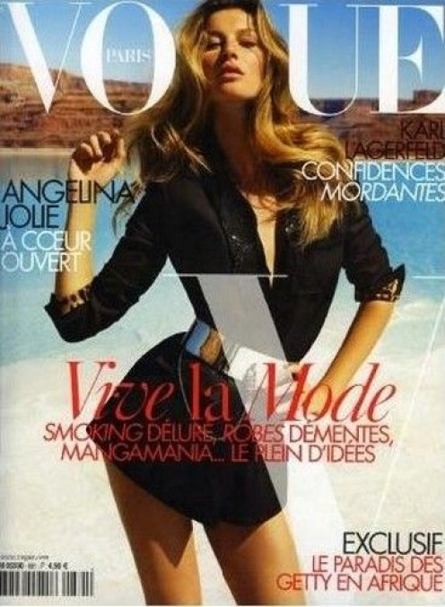 Cover of September 2007 issue of Vogue Paris, depicting Gisele Bündchen. Photograph by Inez van Lamsweerde and Vinoodh Matadin.