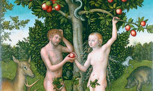 "detail from ""Adam and Eve"" by Lucas Cranach (c. 1472-1553)"