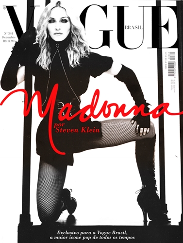 Vogue Brasil/Brazil cover with Madonna photographed by Steven Klein