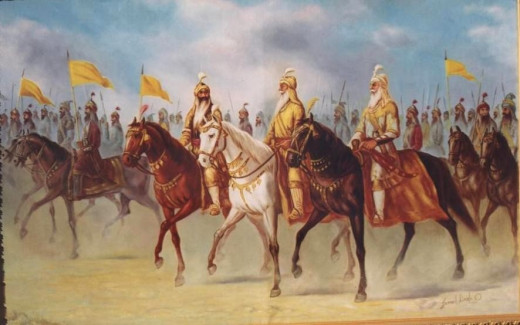S Hari singh Nalwa alongwith King Ranjit Singh during invasion of Afganistan