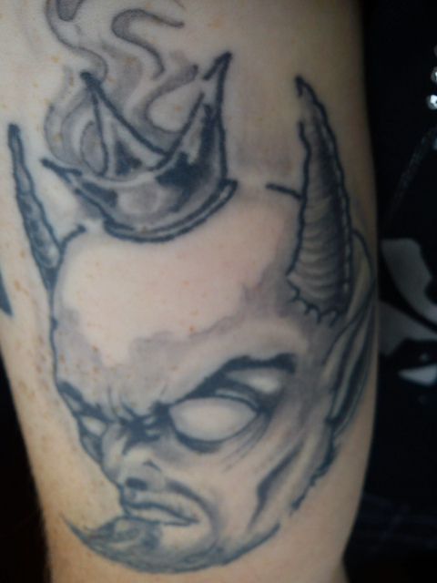 White devil tattoo