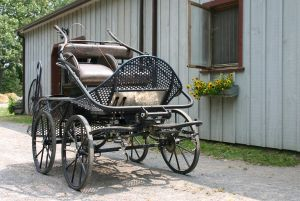 A horse cart similar to those constructed by Levi Weston