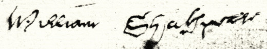 William Shakespeare's signature often varied; here is one example.