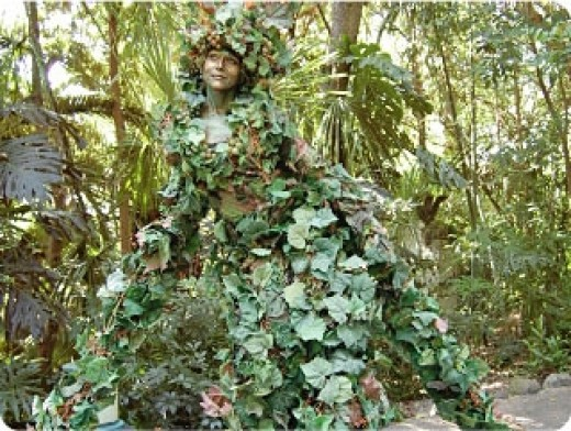 You never know what may pop out unexpectedly from the dense foliage of Disney's Animal Kingdom.