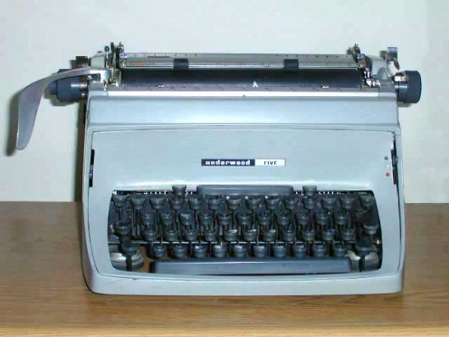 Remember the manual typewriters