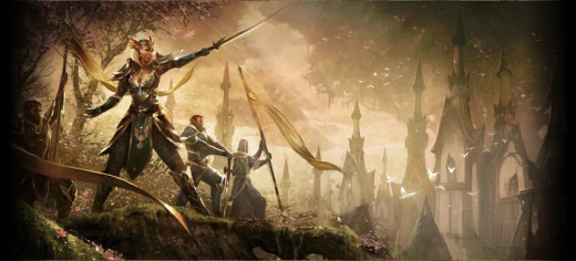 """""""When word reached the High Elves of Summerset that the Imperial City had fallen under the control of the human supporters of Molag Bal, the Aldmeri Dominion was formed."""""""