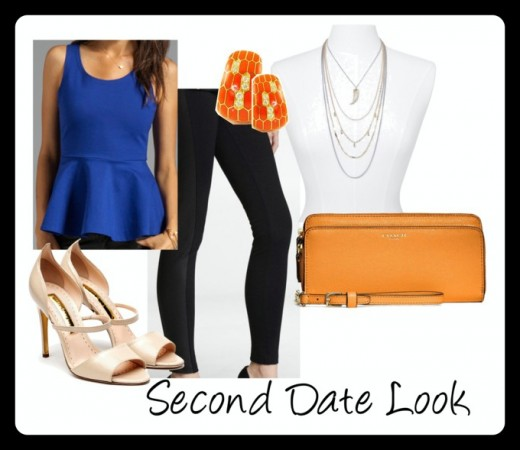 A closer look at this second date look! Media provided by Polyvore.