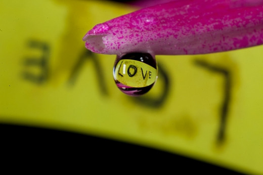 Love water drop photograph.