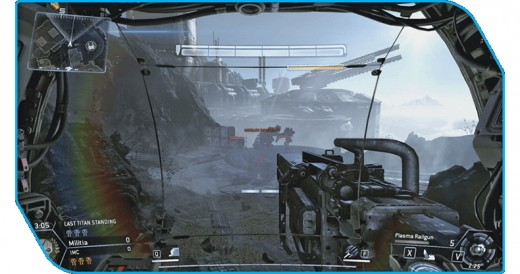 When you climb into a Titan you get a new HuD, which further immerses you in your walker.