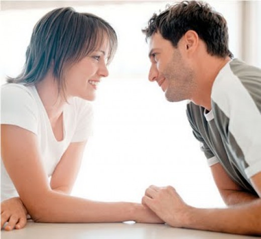 Confidence is very attractive. Meet a man's gaze, and enjoy your interaction.