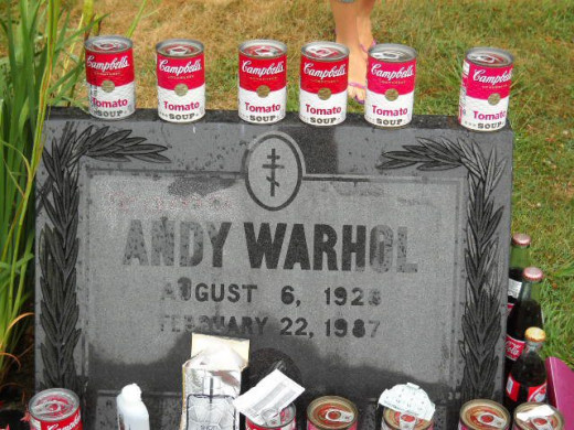 Photo of Andy Warhol's grave taken in 2012.