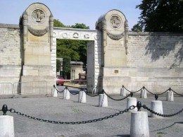 Entrance to Pere Lachaise Cemetery Paris
