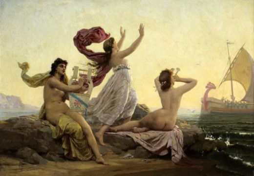 Ulysses and the Three Sirens.