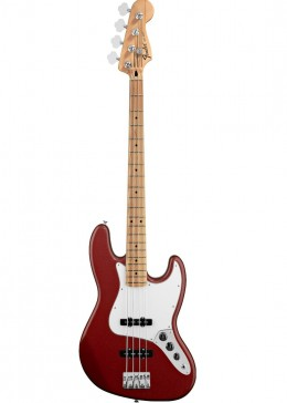 Fender Standard (MIM) Jazz Bass: Candy Apple Red with Maple FIngerboard