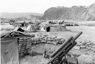 Battery of 105mms in Korea, 1951 (15th FA).