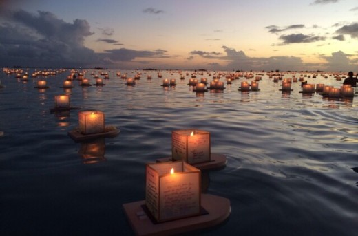 Hawaii's Floating Lantern Ceremony