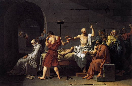 "Jacques-Louis David, ""The Death of Socrates"""