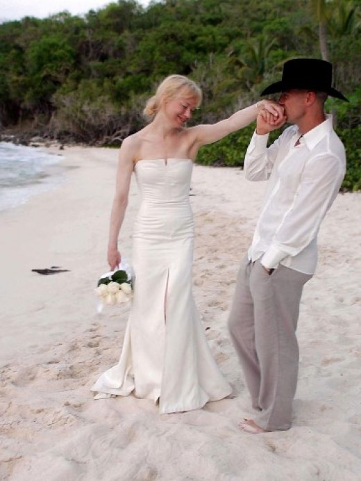 Zellweger and Chesney at their wedding