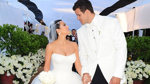 Kardashian and Humphries at their wedding