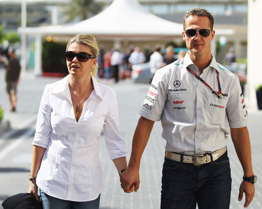 Michael and Corinna Schumacher.