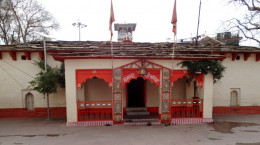 Nanda Devi temple from the front