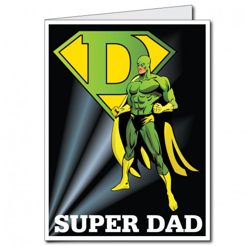 2'x3' Giant Superhero Father's Day card with envelope