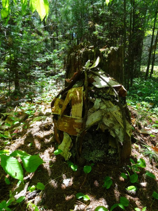 Fairy Houses are popular throughout Maine and the children.