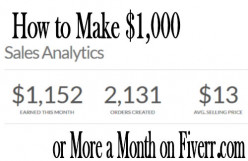 How to Make $1,000 or More a Month on Fiverr.com