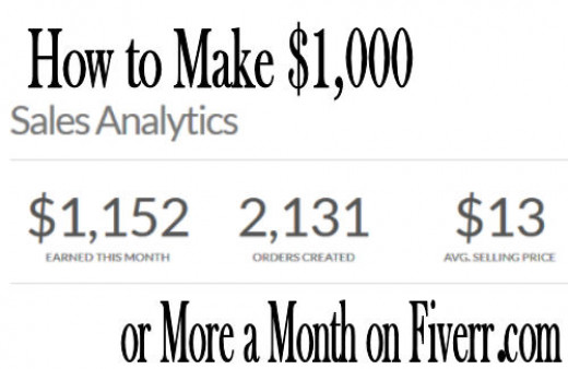 It is possible to make $1,000 or more per month on Fiverr, without having to work 10 hour days.